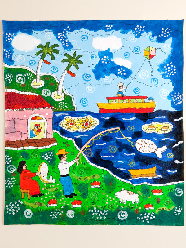 Roberto, Cuba, Naive Paintings, Home Decor