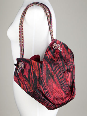 Crimson Ikat Tulip Bag