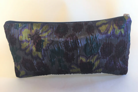 Spring Flowers Ikat Zipper Bag - Large