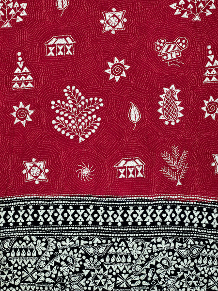 Nature's Bounty Black and Red Warli Wrap