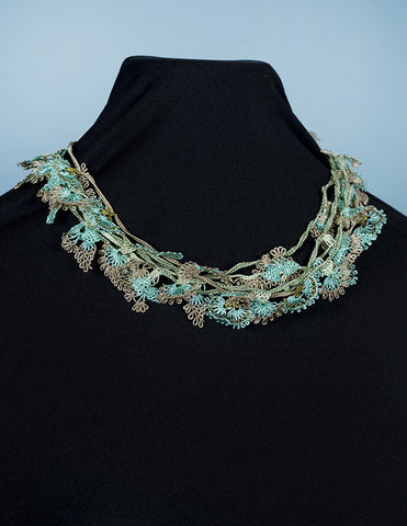 Dense Forest Floral Oya Embroidery Choker