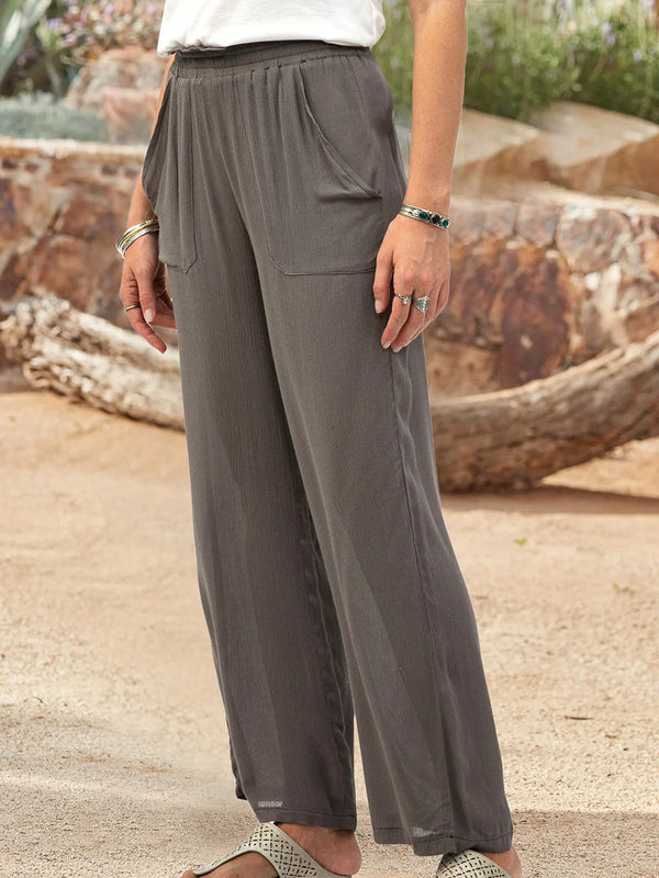 Pure Color Comfortable Women'S Trousers