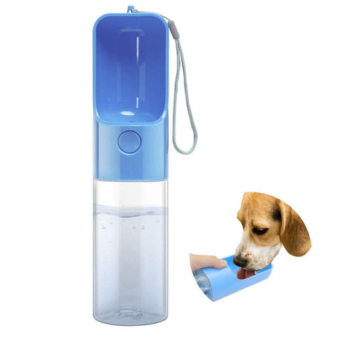 Pet Water Bottle - Blue - 17 oz - Nifty Camping Gear