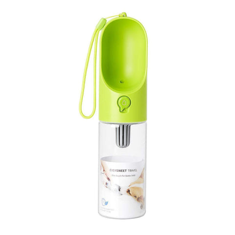 Pet Water Bottle - Green - 14 oz - Nifty Camping Gear