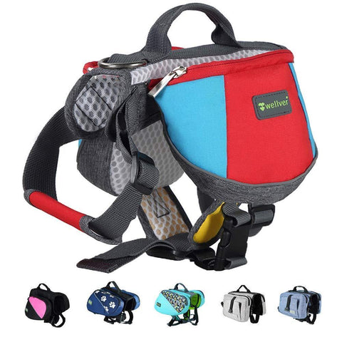 Adjustable Dog Saddle Backpack - Multi 1 - Nifty Camping Gear