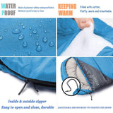 Sleeping Bag - Lake Blue/Grey - Nifty Camping Gear