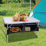 Folding Camping Table - Adjustable Height - Nifty Camping Gear