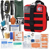 147 Piece First Aid Kit - Red - Nifty Camping Gear