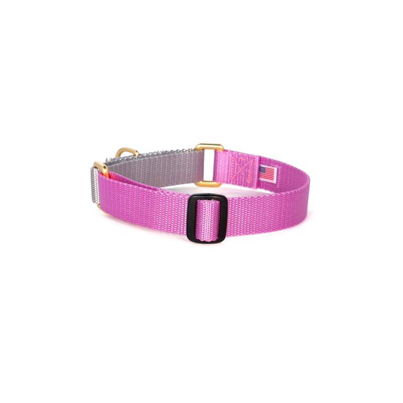 Martingale Collar: Orchid & Silver