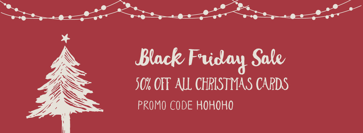 Black Friday Sale! 50% off all Christmas Cards - Yellow Bird Paper ...