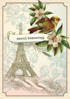 BN5034-Aviary Merci Eiffel Boxed Note