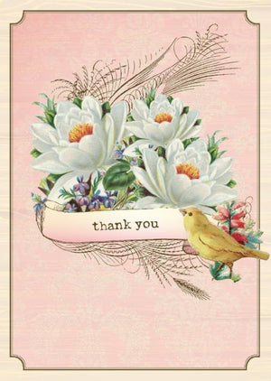 BN5035-Aviary Lillies Boxed Note