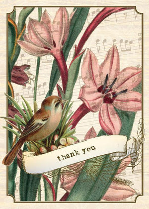 BN5064-Aviary Lilly Boxed Note