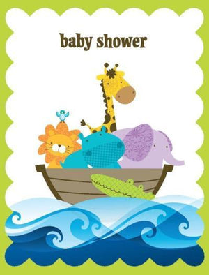 Glitter Ark Baby Shower Card