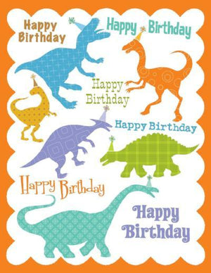 kids glitter Dinosaur Birthday Card