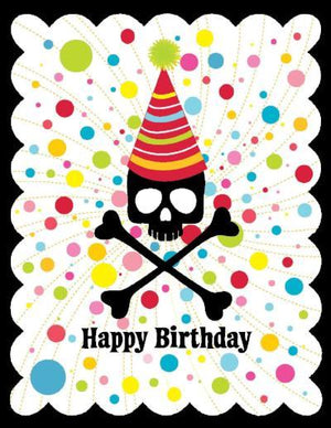 GC-K5023-Skull Hat Birthday Card