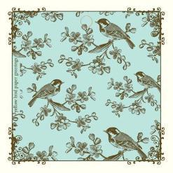 blue Birds on Branches Gift tags