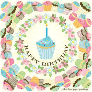 Multi Cupcakes Birthday Gift tag