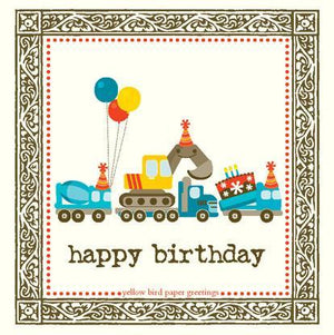 kids mighty machines birthday Gift tag