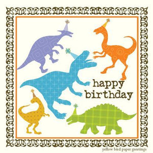 Party Dinosaurs birthday Gift tag