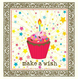 make a wish Cupcake birthday Gift tag