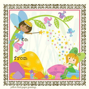 kids Toadstool fairies Gift tag