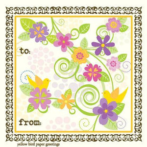 Flower Swirls Gift tag