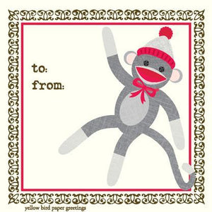 GE7253-Sock Monkey Gift Enclosure