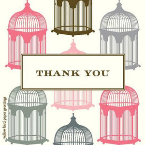 Thank You Vintage Bird Cages Gift tags