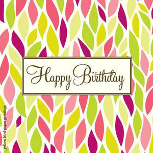 Bright Leaves Birthday Gift tags