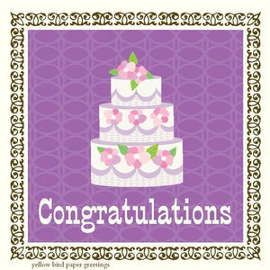 GE7261-Wedding Cake Gift Enclosure