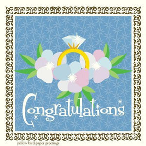 Pretty Bling Ring congratulations Gift tag