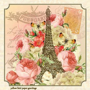 Vintage Eiffel tower Gift tag