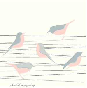 Bird on a wire pink and grey gift tags