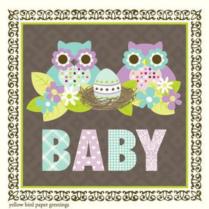 GE7293-Owls Baby Gift Enclosure