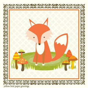 Kids Woodland Fox Gift tag
