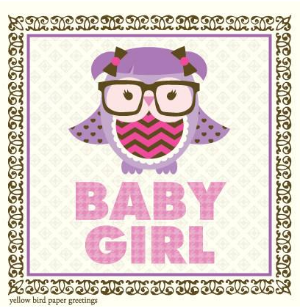Baby girl own congratulations gift tag