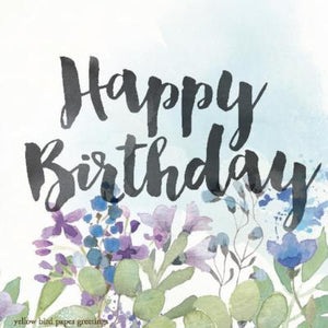 Watercolour Floral Birthday Gift Tag