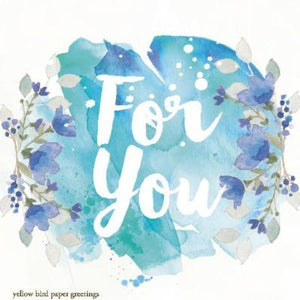 Blue Floral For You Gift tag