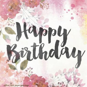 Blush Floral Birthday Gift tag