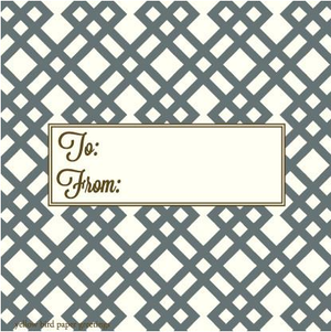 Grey Tartan pattern to/from gift tags