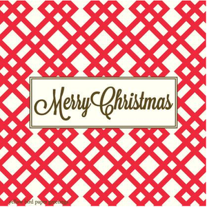 Merry Christmas Red Tartan pattern gift tags