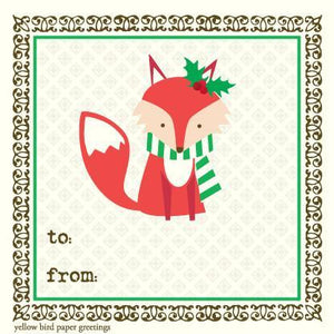 Christmas Fox To/From Gift Tags