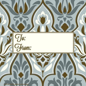 Damask Grey To/From Gift Tags