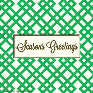 Seasons Greetings Green Tartan Green Gift Tags