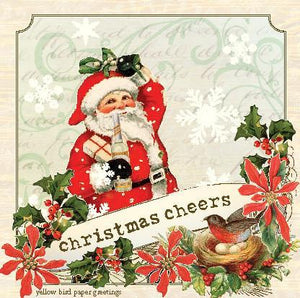 Merry Christmas Santa Cheers Gift Tags