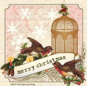 Aviary Bird Cage Gift Tags