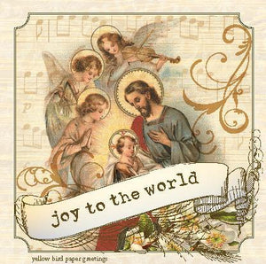 Christmas Baby Jesus with Joy to the world gift tag