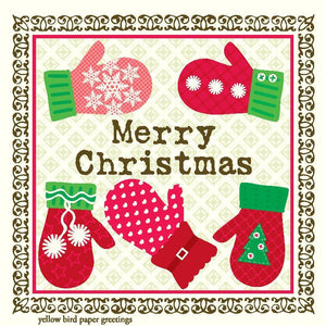 Merry Christmas Mittens Gift Tags