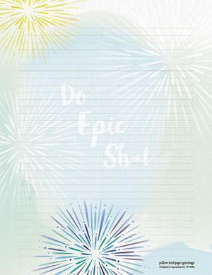 Firework images Do Epic Sh*t Stationery Writing Pad